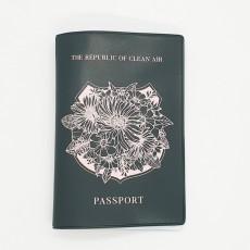 여권케이스 실크인쇄 꽃
